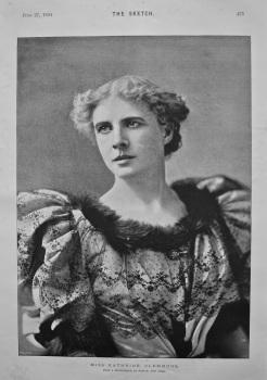 Miss Kathrine Clemmons. 1894.