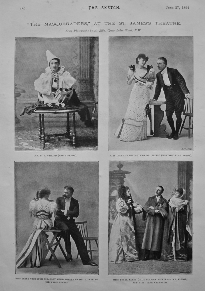 """The Masqueraders."" at the St. James's Palace. 1894."