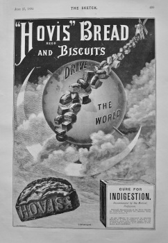 """""""Hovis"""" Bread and Biscuits. 1894."""
