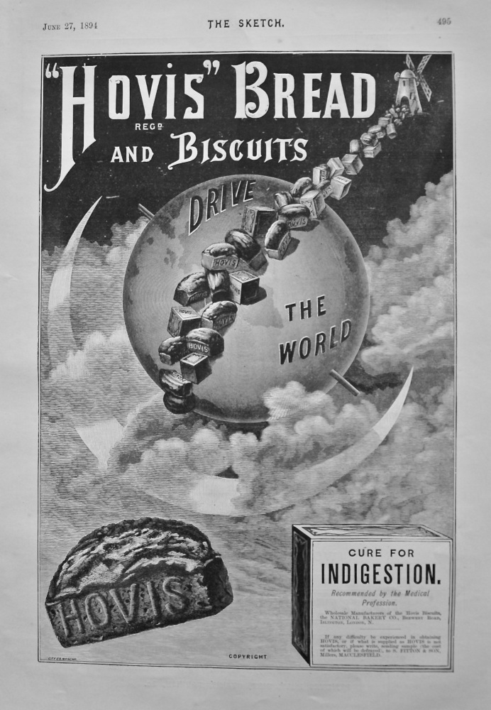 """Hovis"" Bread and Biscuits. 1894."
