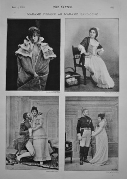 Madame Rejane as Madame Sans-Gene. 1894.