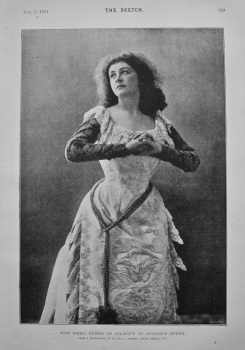 Miss Emma Eames as Juliette in Gounod's Opera. 1894.