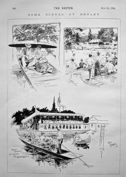 Some Scenes at Henley. 1894.