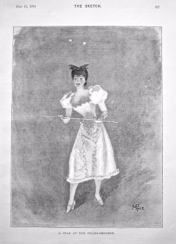 A Star at the Folies-Bergere. 1894.