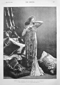"Madame Sarah Bernhardt in ""La Tosca."" 1894."
