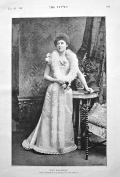 Miss Finlinson. 1894.