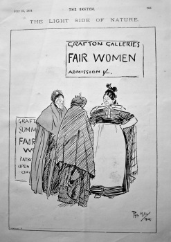 The Light Side of Nature.  Grafton Galleries ,Fair Women, Admission 1 /-.  1894.