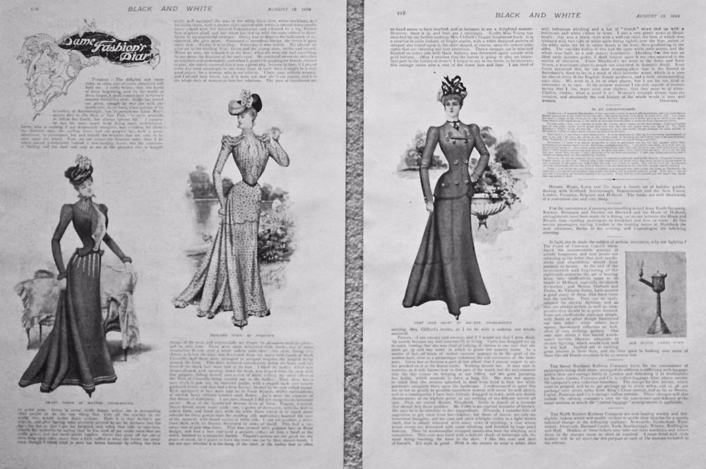 Dame Fashions Diary. 1898.