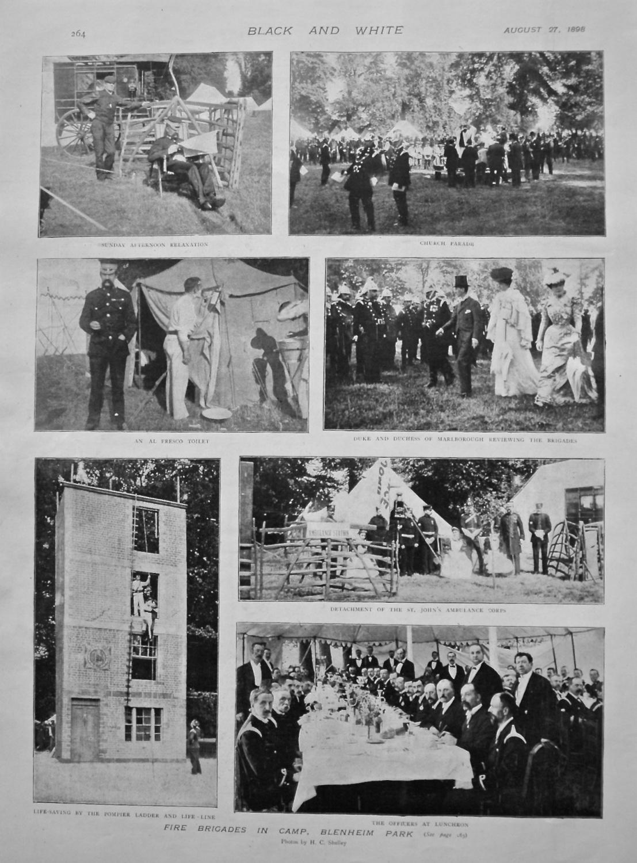 Fire Brigades in Camp, Blenheim Park. 1898.