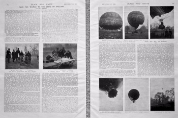 From the Thames to the Seine by Balloon. 1898.