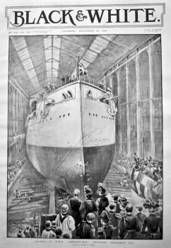 "Launch of H. M. S. ""Irresistible,"" Chatham, December 15th, 1898."
