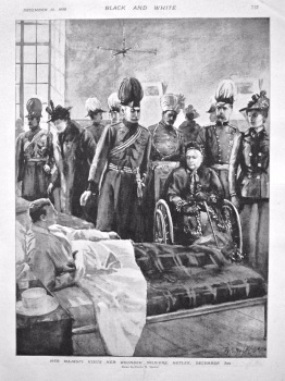 Her Majesty Visits Her Wounded Soldiers, Netley, December 3rd. 1898.