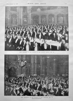 Lord Rosebery at the Dinner of the Lothian Society, Nov. 12. 1898.