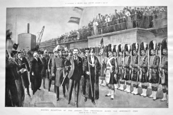 Dover's Reception of the Sirdar : The Procession along Admiralty Pier. 1898.