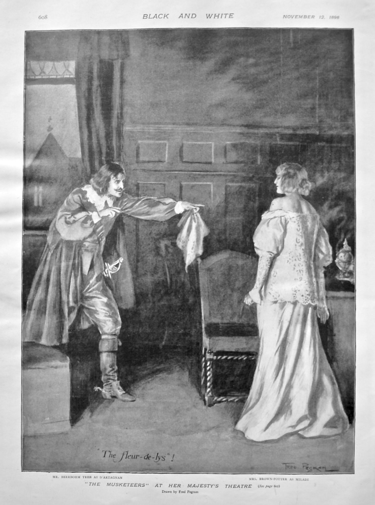 """""""The Musketeers"""" at Her Majesty's Theatre. 1898."""