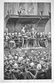 Presentation of a Sword of Honour to Lord Kitchener. Guildhall, November 3, 1898.