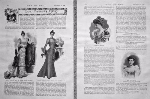 Dame Fashion's Diary. 1898.