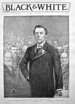 Mr. Chamberlain Addressing the Liberal Unionist Congress at Manchester. 1898.