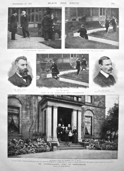 Mr. Chamberlain's visit to Manchester. 1898.