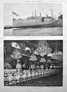 "Launch of H.M.S. ""Formidable,"" Portsmouth, November 17th, 1898."