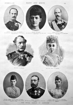 The Royal Family of Denmark. 1898.