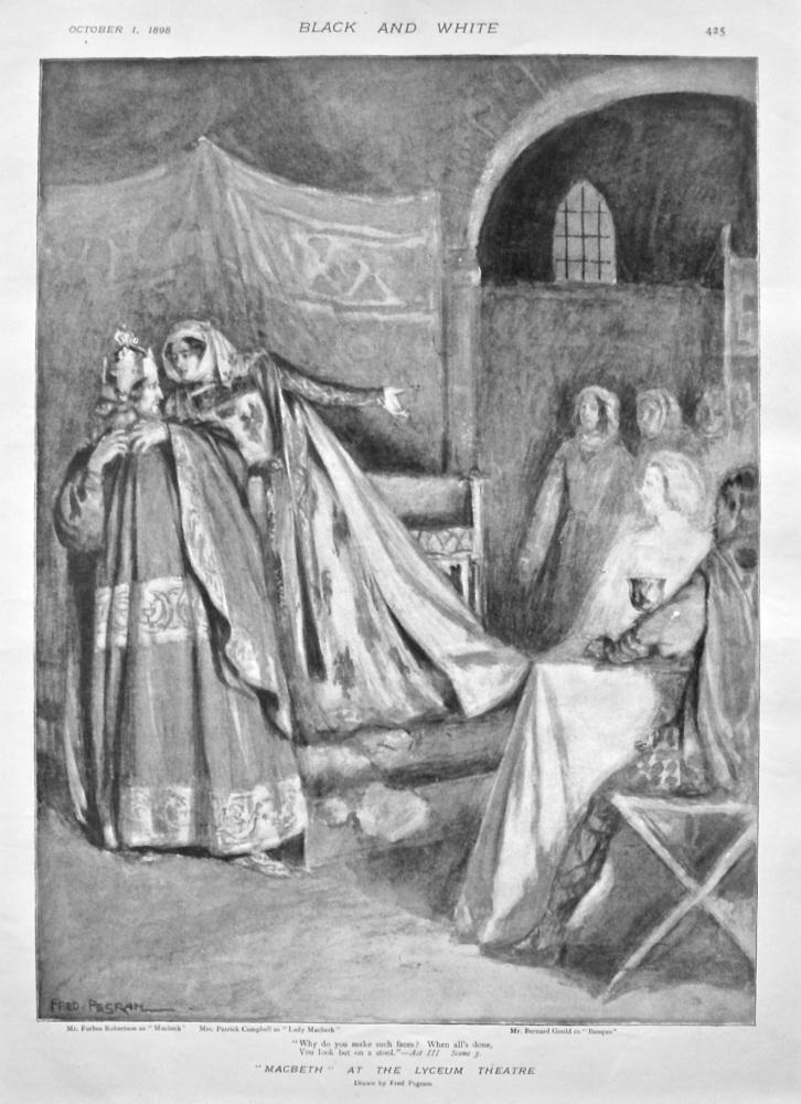 """Macbeth"" at the Lyceum Theatre. 1898."