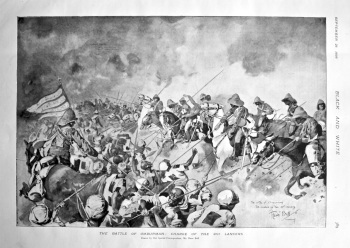 The Battle of Omdurman : Charge of the 21st Lancers. 1898.