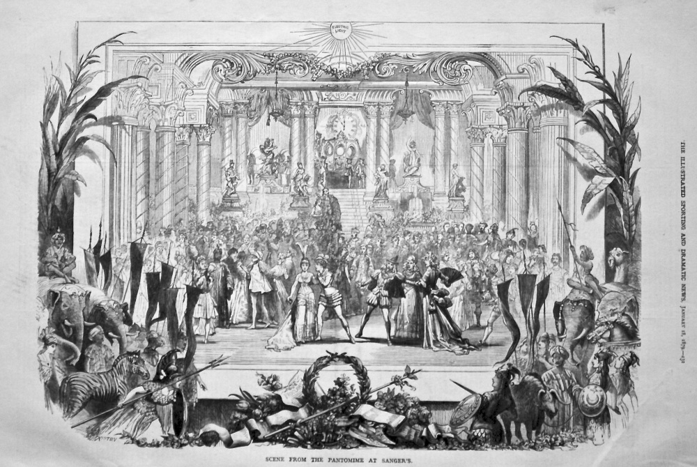 Scene from the Pantomime at Sanger's. 1879.
