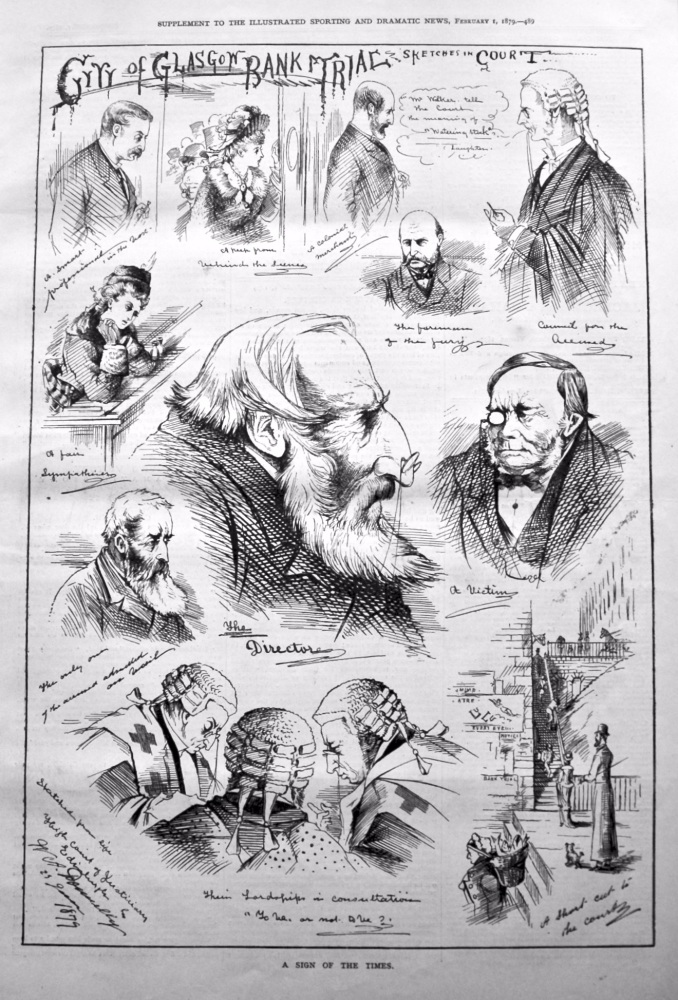 City of Glasgow Bank Trial : Sketches in Court. 1879.