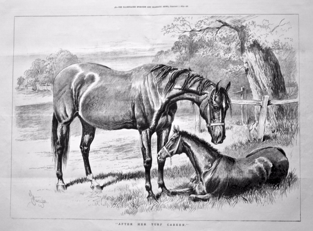 """After Her Turf Career."" 1879."