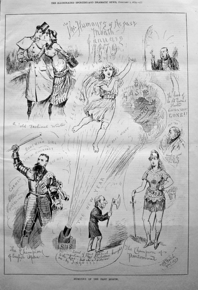 Humours of The Past Month January 1879.