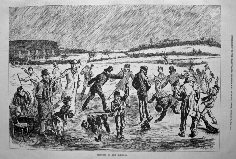 Skating in the Suburbs. 1879.