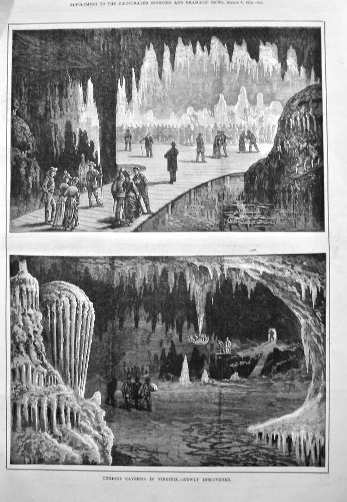 Curious Caverns in Virginia.- Newly Discovered. 1879.