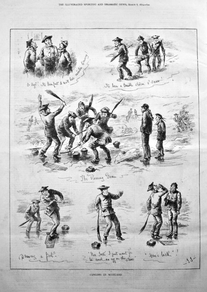 Curling in Scotland. 1879.