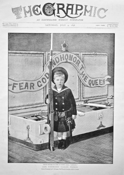 "Our Youngest Sailor Prince : Prince Edward of York on Board H.M.S. ""Crescent"". 1898."