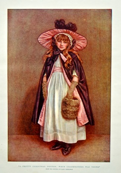 """""""A Pretty Christmas Visitor : When Grandmother was Young"""". 1898."""