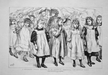 A Children's School Festival at St. Andrew's, Stockwell : The Maypole Dance. 1898.