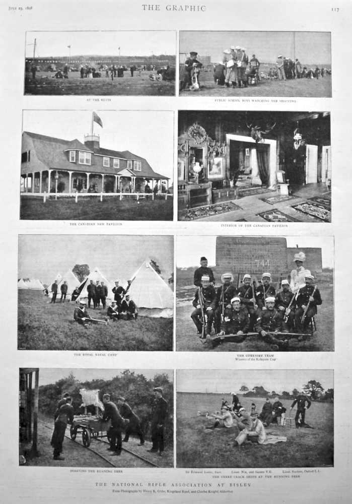 The National Rifle Association at Bisley. 1898.