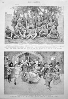 Entertainment by the Elizabethan Stage Society at Fulham Palace. 1898.