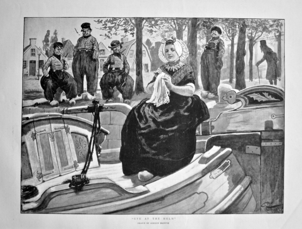 """""""Eve at the Helm"""". 1898."""