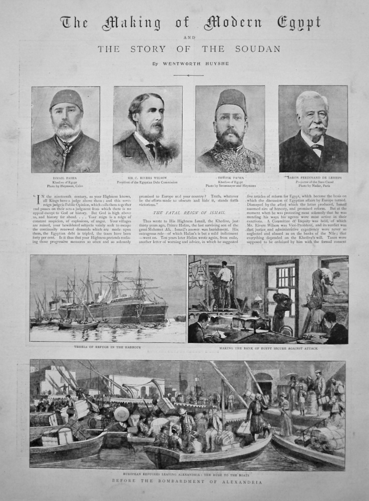 The Graphic, September 24th, 1898.  (Supplement) : The Making of Modern Egypt and the Story of the Sudan.
