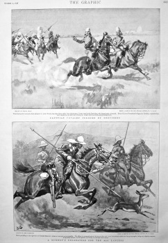 Egyptian Cavalry Pursued by Dervishes. 1898.