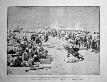 On the Battlefield at Omdurman : Cool Rifles for the Fighting Line. 1898.