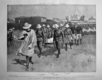After Omdurman : The Funeral of the Hon. Hubert Howard. 1898.
