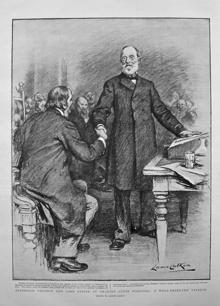 Professor Virchow and Lord Lister at Charing Cross Hospital : A Well-Deserved Tribute. 1898.