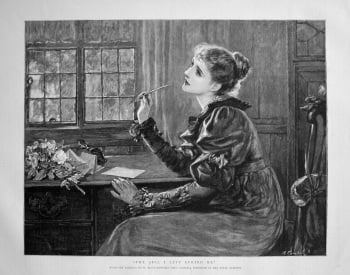 """""""The Girl I Left Behind Me"""". 1898."""