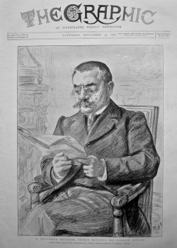 M. Theophile Delcasse, French Minister for Foreign Affairs. 1898.