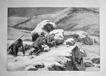 Mr. F. C. Selous in Asia Minor : Stalking a Stag on the Ak Dagh. 1898.