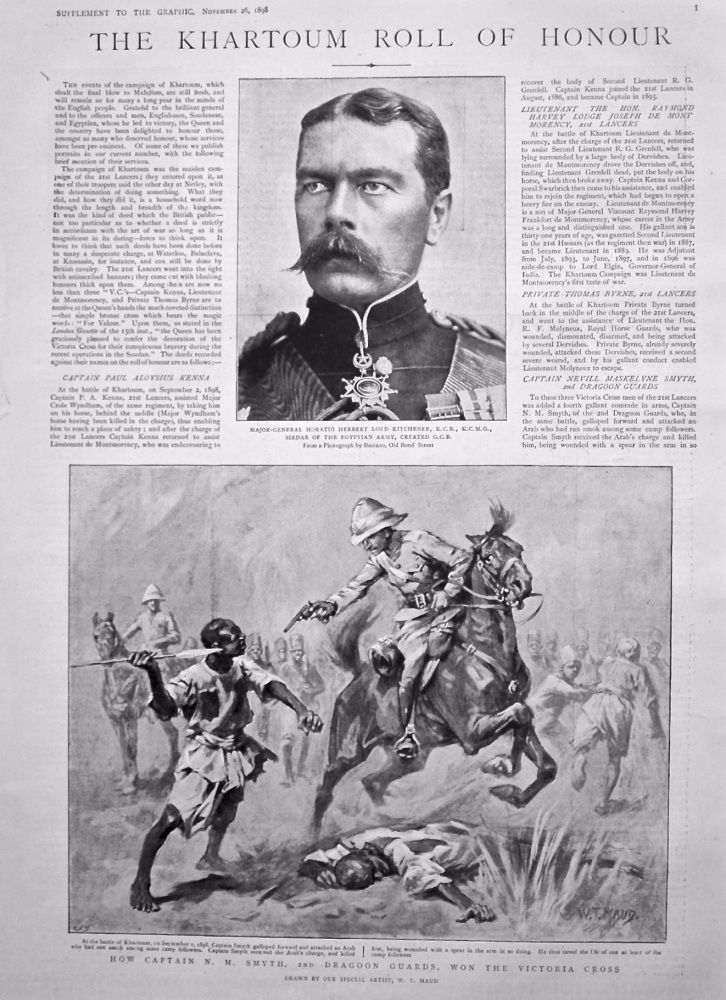 The Graphic, November 26th, 1898. (Supplement)  :  The Khartoum Roll of Honour.