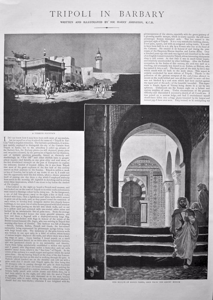 Tripoli in Barbary. 1898.